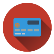 A flat credit card icon used for the Oasis Vending webiste